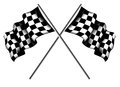 Checkered flags vector illustration background Royalty Free Stock Photo