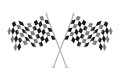 Checkered flags vector illustration stock Royalty Free Stock Photo