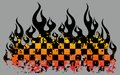 Checkered flames Stock Photography