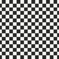 Checkered geometric seamless pattern with small jagged square shapes. Abstract monochrome black and white texture