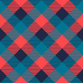 Checkered gingham fabric seamless pattern in grey blue and pink, vector Royalty Free Stock Photo