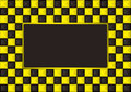 Checkered gold picture frame Stock Photography
