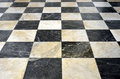 Checkered marble floor Royalty Free Stock Photo