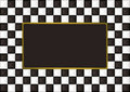 Checkered oblong picture frame Royalty Free Stock Photo