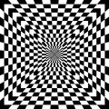 Checkered Optical Illusion