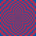 Checkered optical illusion classic pattern in red and blue also repeats seamlessly Royalty Free Stock Photos