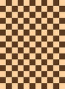 Checkered pattern brown color
