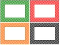 Checkered Pattern Frame Set Stock Images