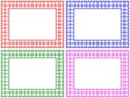Checkered Pattern Frame Set Stock Photo