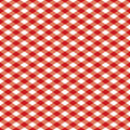 Checkered Pattern_Red and White Stock Image