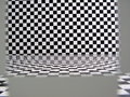 Checkered pattern room Stock Image