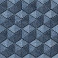 Checkered pattern - seamless pattern - blue jeans texture Royalty Free Stock Photo