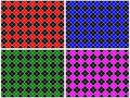 Checkered Pattern Set Royalty Free Stock Images