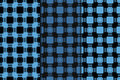 Checkered plaid fabric background. Blue seamless pattern