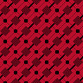 Checkered plaid fabric background. Red seamless pattern