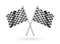 Checkered racing flags. 3d illustration Royalty Free Stock Photo