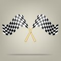 Checkered racing flags vector illustration this is file of eps format Stock Photography