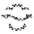 Checkered ribbons Royalty Free Stock Image