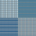 Checkered seamless blue backround in colors eps vector Stock Images