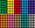 Checkered seamless patterns vector illustration Royalty Free Stock Photos