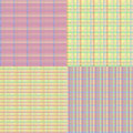 Checkered seamless set abstract backgrounds eps vector Stock Image