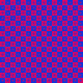 Checkered star pattern red and blue geometric shape Royalty Free Stock Photos