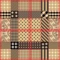 Checkered steppende Auslegung. Lizenzfreies Stockbild