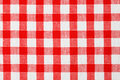Checkered tablecloth Stock Images