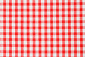 Checkered tablecloth Royalty Free Stock Photo