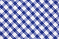 Checkered tablecloth Royalty Free Stock Photography