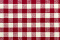 Checkered tablecloth Royalty Free Stock Images
