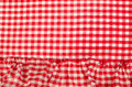 Checkered tablecloth a full frame take of a Royalty Free Stock Photos