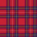 Checkered tartan fabric seamless pattern shades of red and blue vector as a plaid Stock Photo
