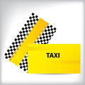 Checkered taxi business card design for taxi companies Stock Photos