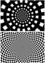 Checkered Textures - spheric pattern Royalty Free Stock Image