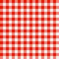 Checkered Tischdecke Stockbild
