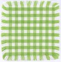 Checkered verde Foto de Stock Royalty Free