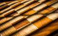 Checkered Wood Design with Crossing Shadows Royalty Free Stock Photo