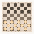 Checkers game board Royalty Free Stock Photo