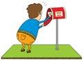 Checking mailbox Stock Image