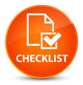 Checklist elegant orange round button