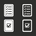 Checklist icons set.