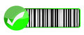 Checkmark barcode UPC Stock Photography