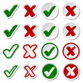 Checkmark stickers Royalty Free Stock Photo