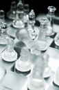 Checkmate game over a queens Royalty Free Stock Photo
