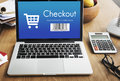 Checkout Purchase Online Shopping Concept Royalty Free Stock Photo