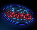 Checks cashed concept. Royalty Free Stock Photo
