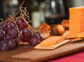 Cheddar cheese appetizer Royalty Free Stock Photos