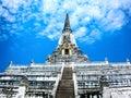 Chedi Phukhao Thong, big pagoda in Ayutthaya historical park, Ayutthaya Thailand, designated a UNESCO World Heritage Site Royalty Free Stock Photo