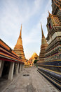 Chedi Wat-pho temple Thailand Stock Photos